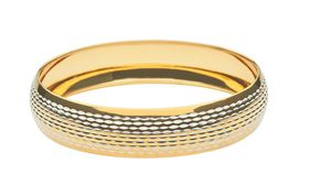 9ct-925 Gold Fusion 15mm Two-Tone Fancy Bangle