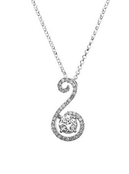 925 Sterling Silver 22mm C.Z Anchor Pendant Necklace