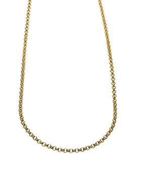 9ct-925 Gold Fusion Rolo Becher Necklace