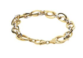 9ct-925 Gold Fusion Ladies 9mm Two-Tone Bracelet
