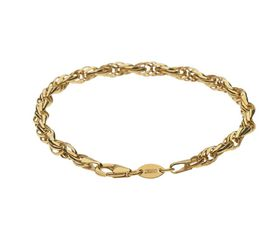 9ct-925 Gold Fusion Ladies 5mm Twist Link Bracelet