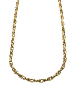 9ct-925 Gold Fusion Ladies 5mm Twist Link Necklace