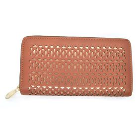 Lily & Rose TLP055 Rust Geometric Zip Through Purse