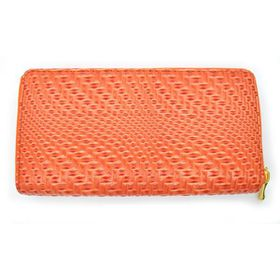 Lily & Rose TLP070  Orange Raised Geometric Zip Through Purse