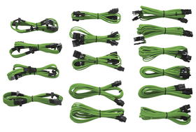 Corsair Professional Individually Sleeved DC Cable Kit, Type 3 (Generation 2) - Green