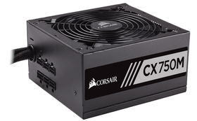 Corsair CX Series CX750M - 750 Watt 80 PLUS Bronze Certified Modular ATX PSU (2015 Edition)