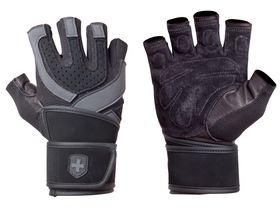 Harbinger Training Grip WristWrap - Black Or Blue - (Size: Large)