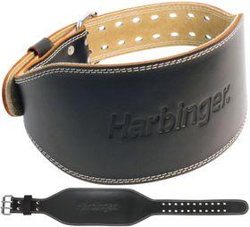 "Harbinger 6"" Padded Leather Belt - Black - (Size: Large)"