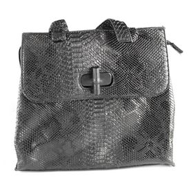 Lily&Rose Black Faux Snake Bag TLB063