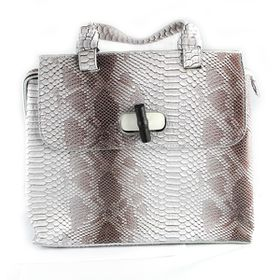 Lily&Rose Brown Two Tone Faux Snake Hand Bag TLB065