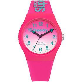 Superdry Ladies Urban Laser Silicone Strap Watch SYL198PN - Hot Pink