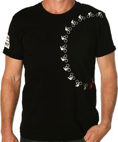 Apres Velo Crank It Damn It Mens Tee in Black