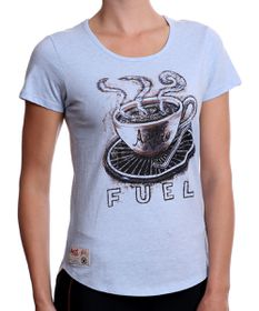 Apres Velo Fuel Womens Tee in Blue