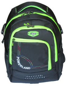 Powerland Unisex Laptop Backpack - Black & Green (BH-D160257)