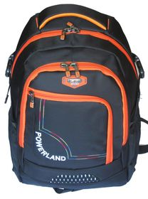 Powerland Unisex Laptop Backpack - Black & Orange (BH-D160257)