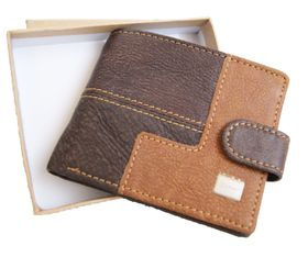 Genuine Leather 2 Tone Wallet with Sim Card Holder With Clip (DWS802)