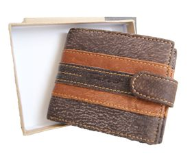 Genuine Leather 2 Tone Wallet With Clip (DWS803)