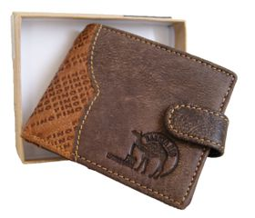 Genuine Leather 2 Tone Wallet With Clip (DWS804)