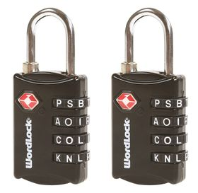 Wordlock - TSA Luggage Lock - Black (set of 2)