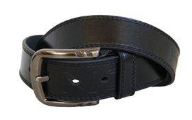 Fino Genuine Leather Mens Pin Buckle Belt  LB-10 - Black