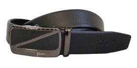 Fino Genuine Leather Auto Lock buckle  Belt   LB-A9 Black