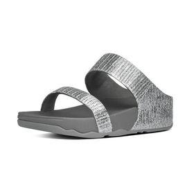 Fitflop Lulu Superglitz Slide - Silver (Size: UK3)