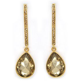Bella Bella Gold And Yellow Crystal Drop (TBE108)