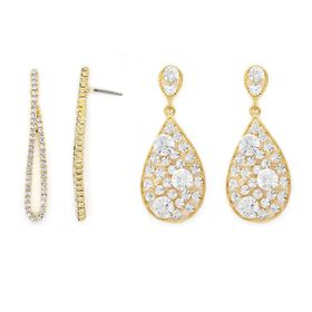 Bella Bella Statement Crystal Fused Gold  (TBS003)
