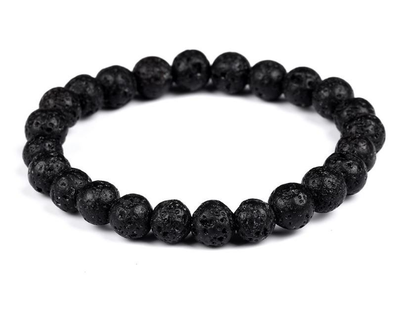 natural matte bead resized aum product stone beaded bracelet