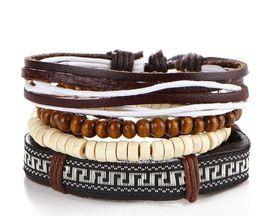 URBAN Charm Beads and Leather bracelet stack - Aztec