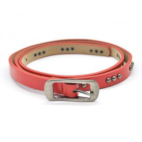 Lily & Rose TLBE017 Red Fashion Belt with Gun Metal Studded Pattern