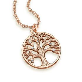 The Gem Seller Tree of Life Pendant Necklace with  Swarovski Elements - Rose Gold