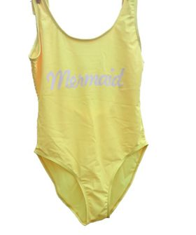 The Change Room 1 Piece Swimsuit - Mermaid - Yellow - (Size: Medium)