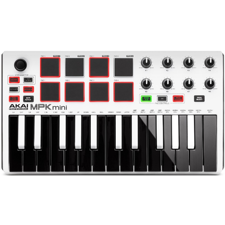 Akai MPK Mini 2 White Controller - Limited Edition