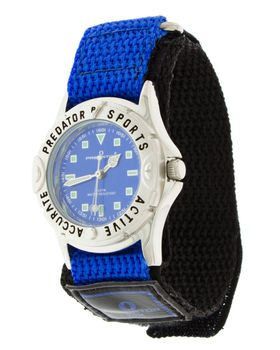 Predator Mens Analogue Watch - Black & Blue Dial