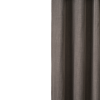 Loads of Living Blockout Harvey Curtain Extra Length Taped - Titanium