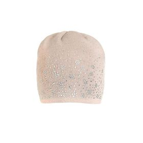 Quiz  Taupe Diamante Detail Knitted Hat- (Size: ONE SIZE)