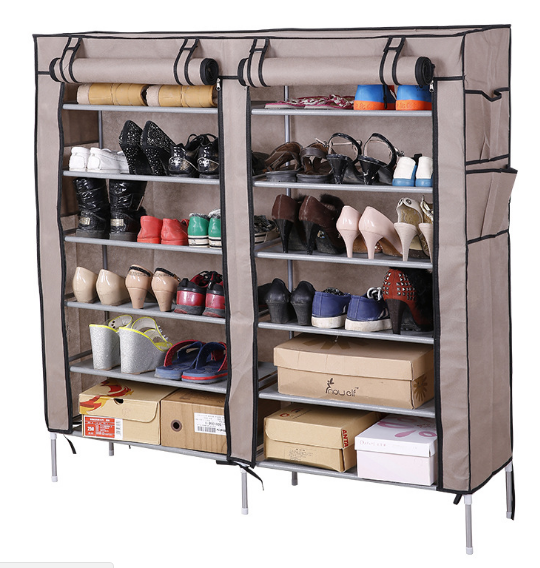 Mix Box Portable Standing Fabric Shoes Rack Cabinet Shoe Storage Organizer  Non Woven Zip Up, ... Part 36