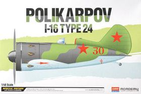 Academy Polikarpov I-16 Tpe 24 1/48 Scale Model Kit