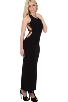Pilot Cut Out Sides Maxi Dress in Black