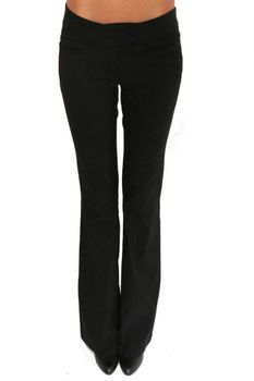 Pilot Extended Waistband Trousers in Black