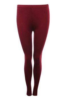 Pilot Plain Leggings in Burgundy Red