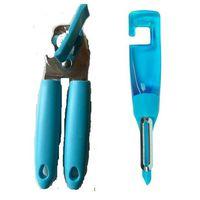 Can Opener & Vegetable Peeler - Blue