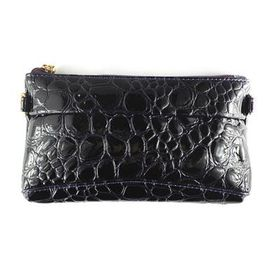 Lily & Rose Navy Purple Faux Snake Purse TLP084