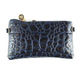Lily & Rose Navy Blue Faux Snake Purse TLP087
