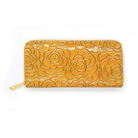 Lily & Rose Ochre Coloured Glossy Zip Through Purse TLP091