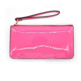 Lily & Rose Pink Glossy Zip Through Purse TLP093