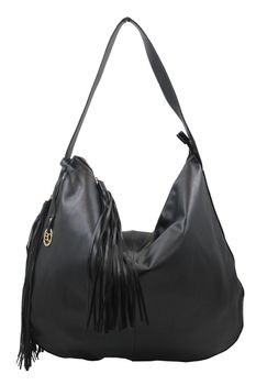 Blackcherry Womens Black Shoulder Bag - Large