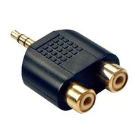Lindy 2 Rca Stereo F to 3.5mm M Jack Adapter(35624)