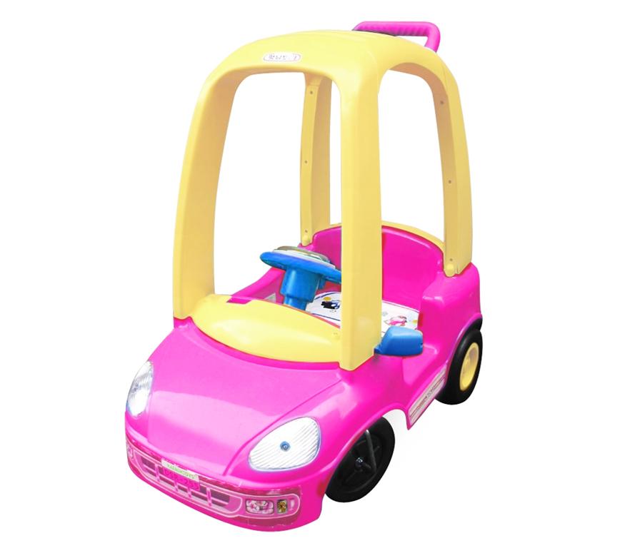 parent controlled kids push car fun buggy in pink